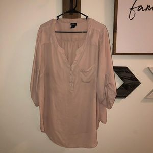 Sheer toupe blouse